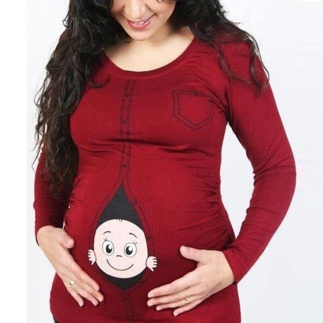 Těhotenské tričko Nicolette 1