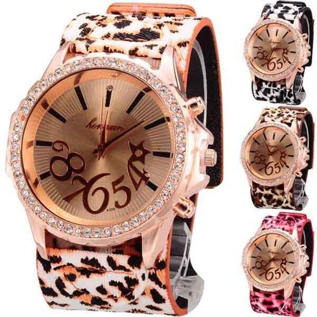 Damski zegarek z motywem lamprta i z kamyczkami - oferujemy 4 kolory 1