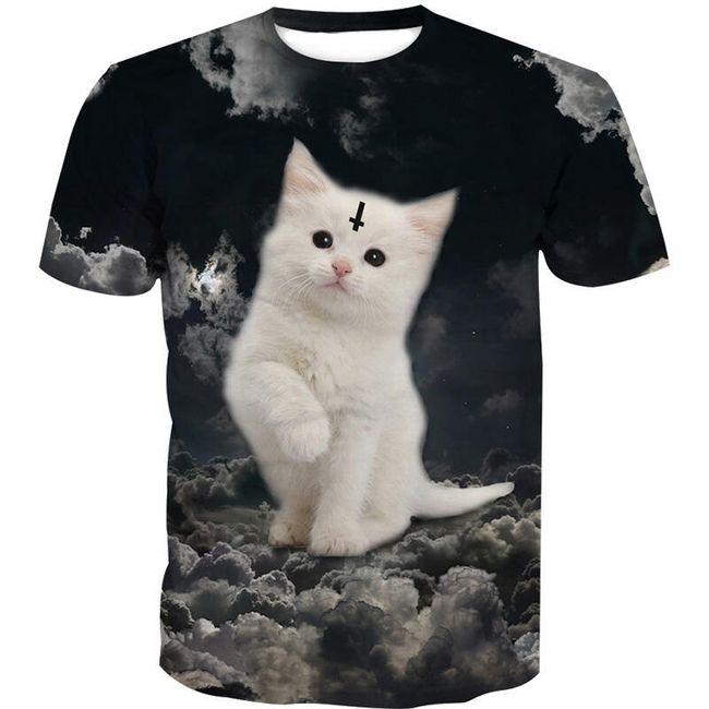 Pánské triko s kotětem 1