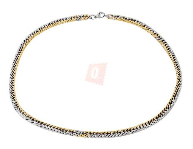 Náhrdelník, 55cm - zlatostříbrná barva 1