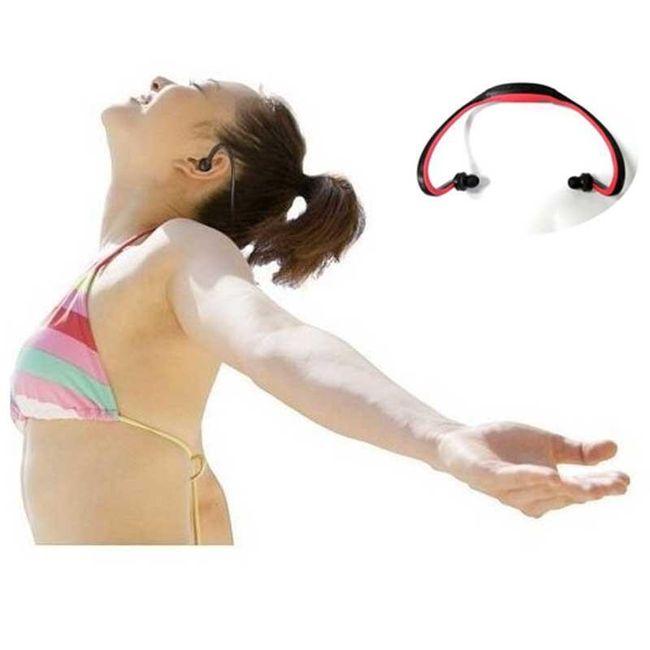 Sportovní bezdrátová sluchátka za krk 1