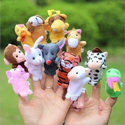 Mini plüss állat szett - 12 db
