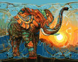 DIY живопись по номерам- Слон