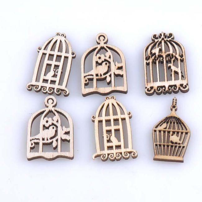 Dřevěné klícky s ptáčky - 50 kusů 1