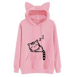 Hanorac simpatic cu urechi de pisica - 4 culori