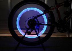 Wentyl rowerowy LED - zielony