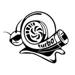 Samolepka na auto - turbo šnek