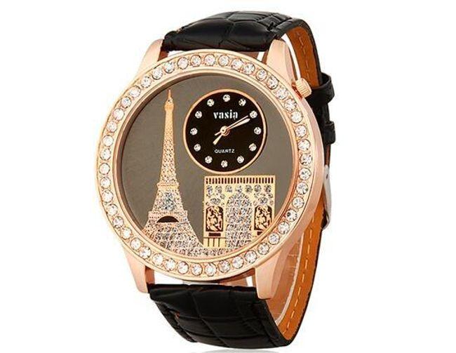 Damski elegancki zegarek z wieżą Eiffla - 3 kolory 1