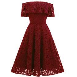 Krajkové šaty se spadlými rameny - 5 barev