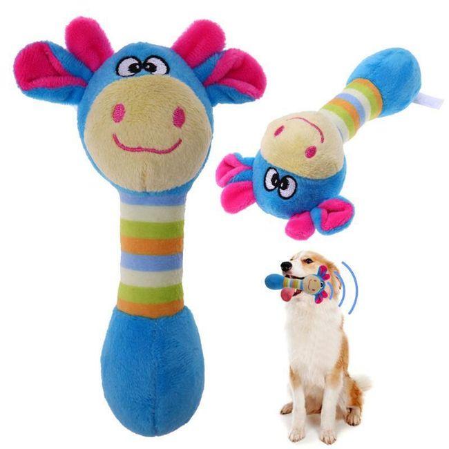 Plišana zviždeća igračka za psiće - 4 varijante 1