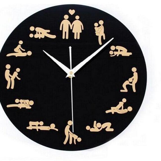 Stenska ura s spolnimi položaji - 2 barvi 1
