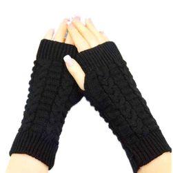 Pletené hřejivé rukavice