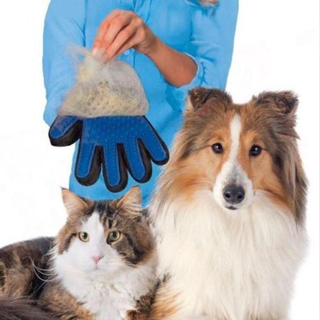 Silikonová rukavice na psí nebo kočičí srst 1