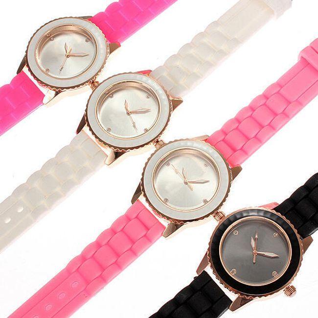 Dámské hodinky se silikonovým páskem 1