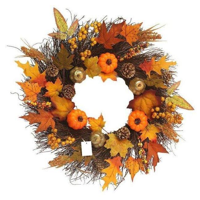 Jesienny wieniec na drzwi Suzie 1
