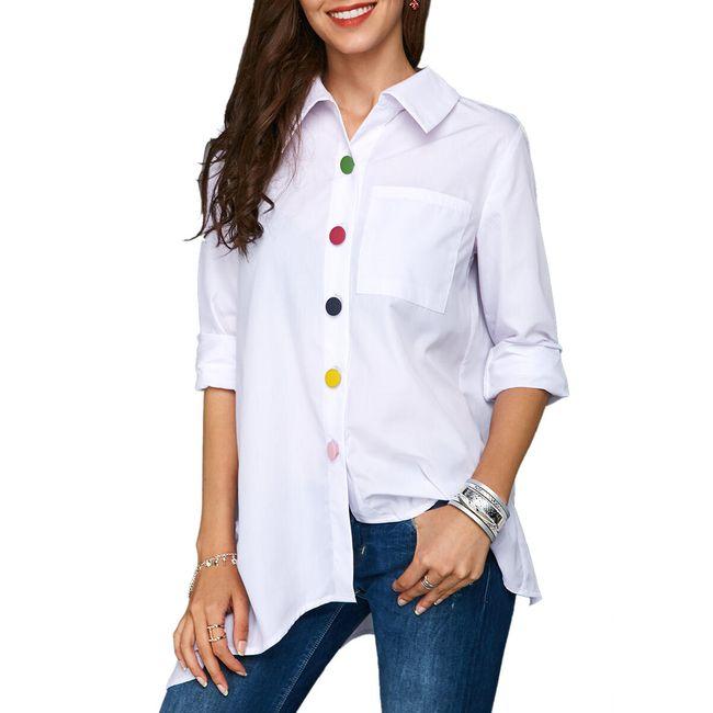 Dámská stylová košile s barevnými knoflíky - 3 barvy 1