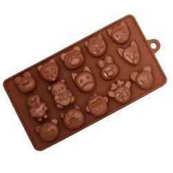 Szilikon forma csokoládéhoz - állatok PD_1566601