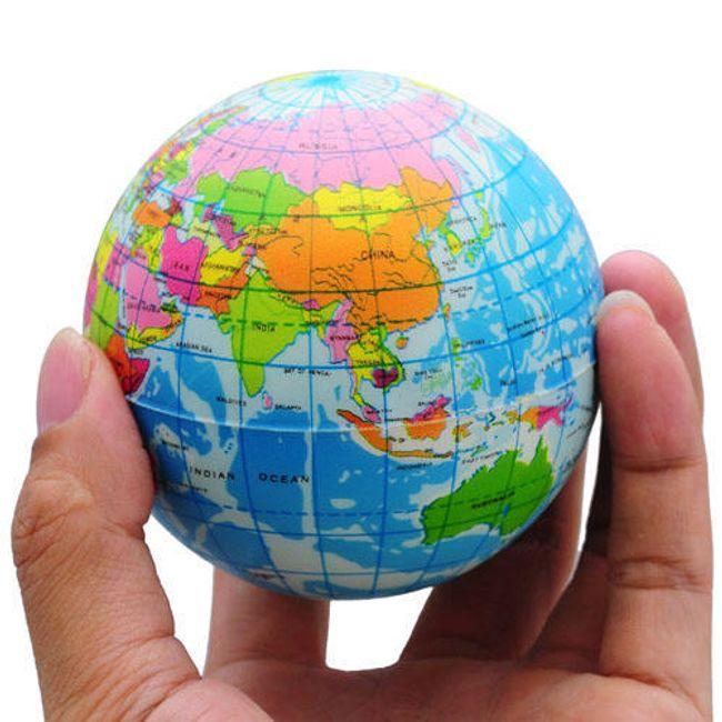 Piłka antystresowa - globus 1