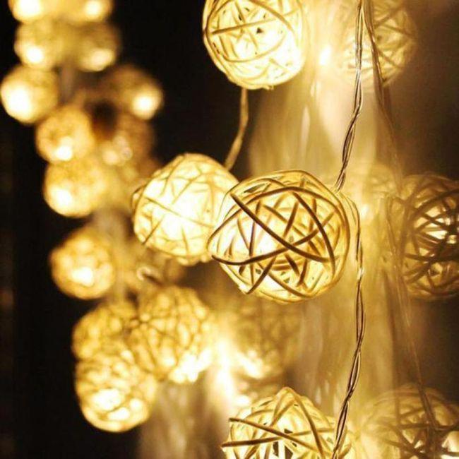 Řetěz se svítícími bobulkami - 3 barvy 1