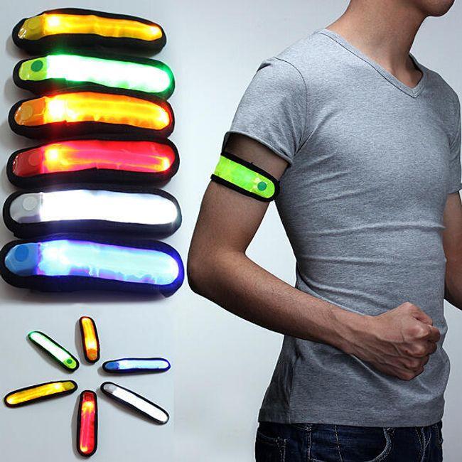 LED świecąca pasek bezpieczeństwa na rękę - 6 kolorów 1