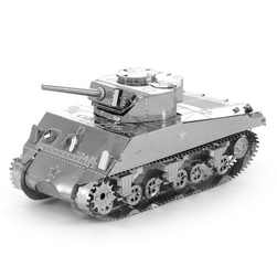 3D metalowe puzzle - czołg Sherman