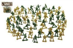Zestaw żołnierzy 150g 2 kolory plastikowy wzór CZ na karcie 18x19,5cm RM_00311489