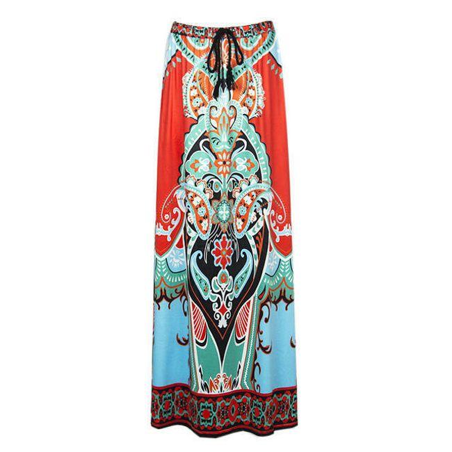 Dlouhá sukně s africkým motivem - 3 varianty 1