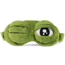 3D плюшевая маска для сна - Глазки лягушки