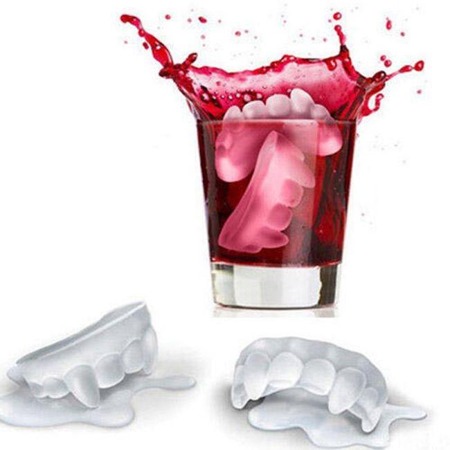 Silikonowa foremka na lód w postaci zębów wampira 1