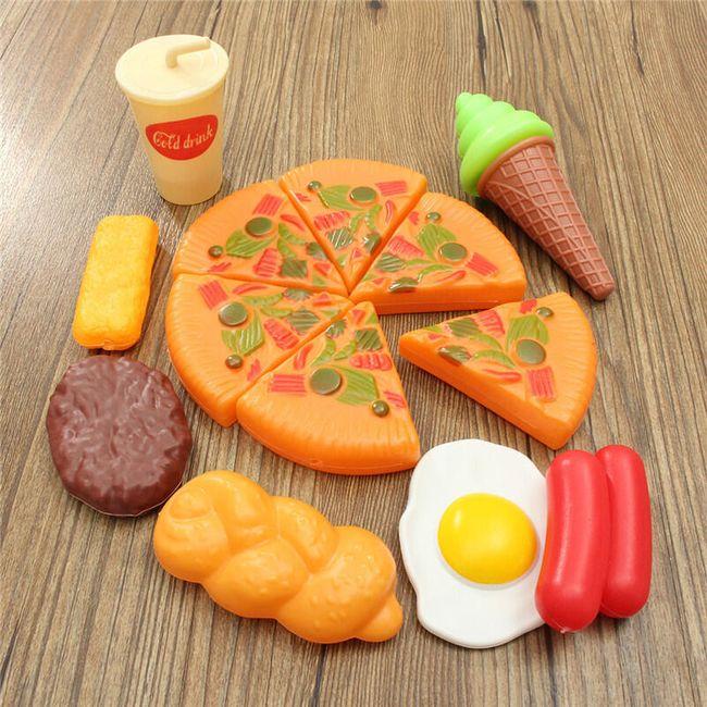 Mini műanyag étel babáknak - 13 db 1