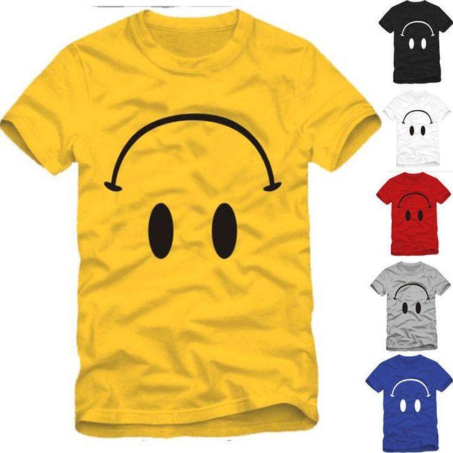 Unisex tričko s potiskem obráceného smajlíka  1