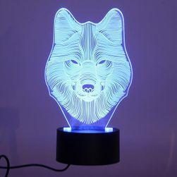 Lampička s 3D iluzí - vlk