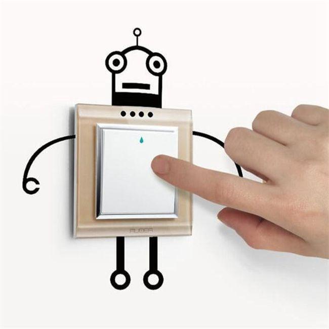 Kicsi matrica robot formájában a kapcsolóhoz 1