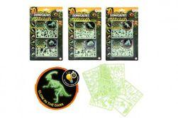 Hlavolam 3D puzzle plast Svět dinosaurů svítící ve tmě 3 druhy na kartě 15x25,5x0,5cm RM_00542596