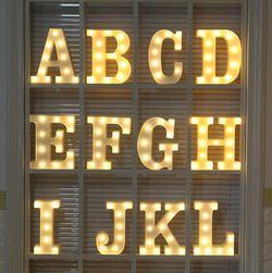 LED písmenko nebo číslo - různé