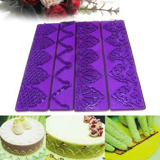 Dekorační pásky na dort - 4 kusy 1