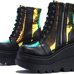 Dámské boty na platformě TF9214