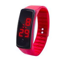 LED sat sa silikonskim kaišem - 12 boja