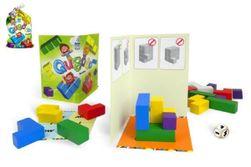 Qubolo společenská hra s dřevěnými kostkami v látkovém pytlíčku 27x15cm STRAGOO RM_26007888