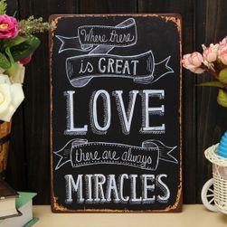 Poster metalic retro - Miracles