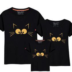 Tričko s kočkou pro mamku, tátu a děti