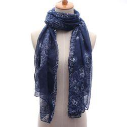 Modrý šátek s ornamenty