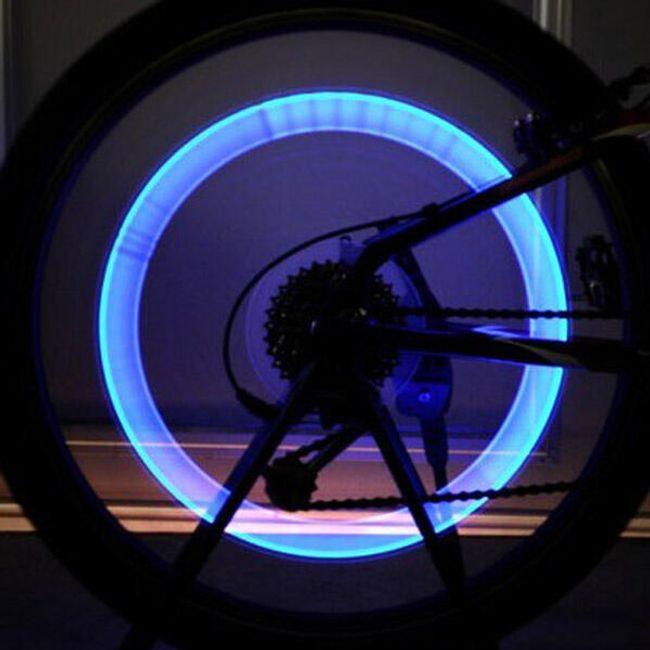 6X LED świecący kapturek na wentyl rowerowy 1
