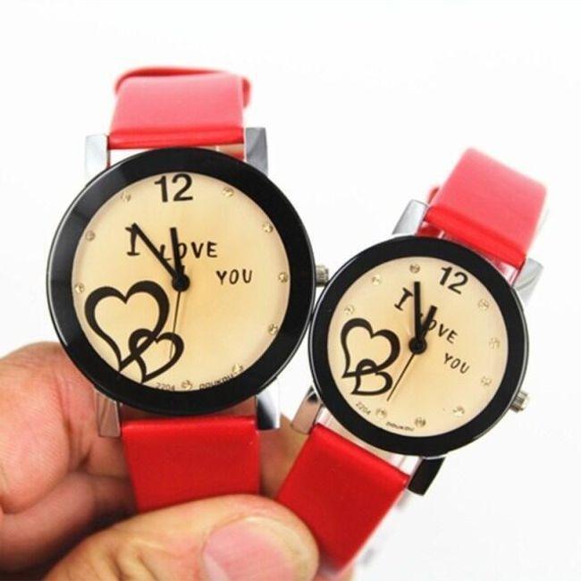 Ceas de damă cu inscripția I love you 1