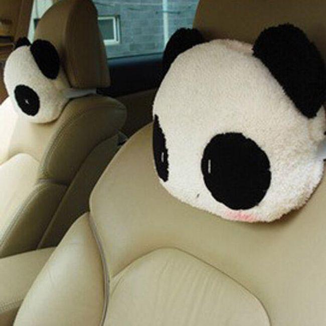 Panda párna az autó fejtámláján 1