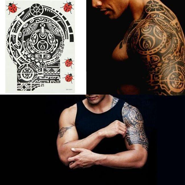 Переводная татуировка в стиле Маори 1