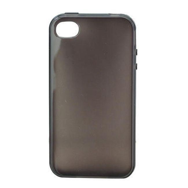Průhledné ochranné pouzdro pro iPhone 4 a 4S - šedé 1
