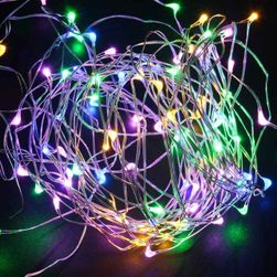 LED řetěz na baterie s malými světýlky - různé barvy