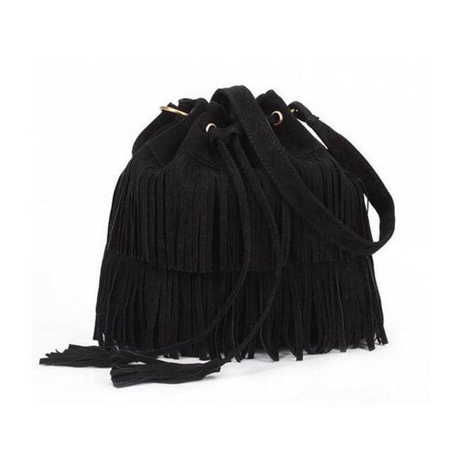Ženska torba z resami 1
