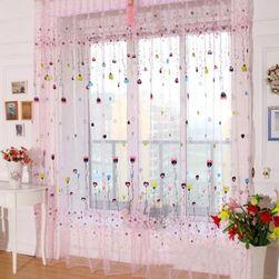 Zavesa sa motivima balončića i cveća